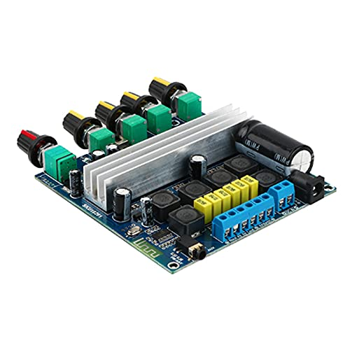 Gfhrisyty Placa Amplificadora de Potencia Digital TPA3116 5,0 50Wx2 + 100W Placa Amplificadora de Potencia de Subwoofer de 2,1 Canales de Alta Potencia