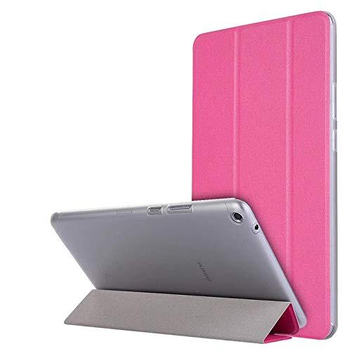 Caja de la Tableta para Huawei Mediéspad T3 8 Funda de Cuero de la Tapa de pie para el Honor Play Pad 2 8 0 Pulgadas KOB-L09 KOB-W09-Rosa