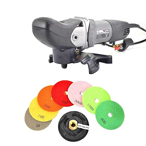 """""""Equipment and Tools for You"""" VS5 Variable Speed Wet Grinder Polisher, 8 pcs 5 Inch Diamond Polishing Pad asd-1-7-12715"""