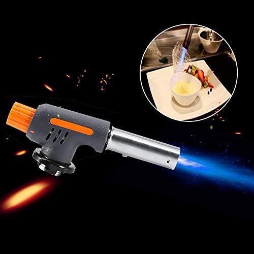 Butan Fackel Küche Fackel kulinarische Flamme Feuerzeug für Wandern Camping Küche Kochen Creme BBQ (Butangas nicht inbegriffen)