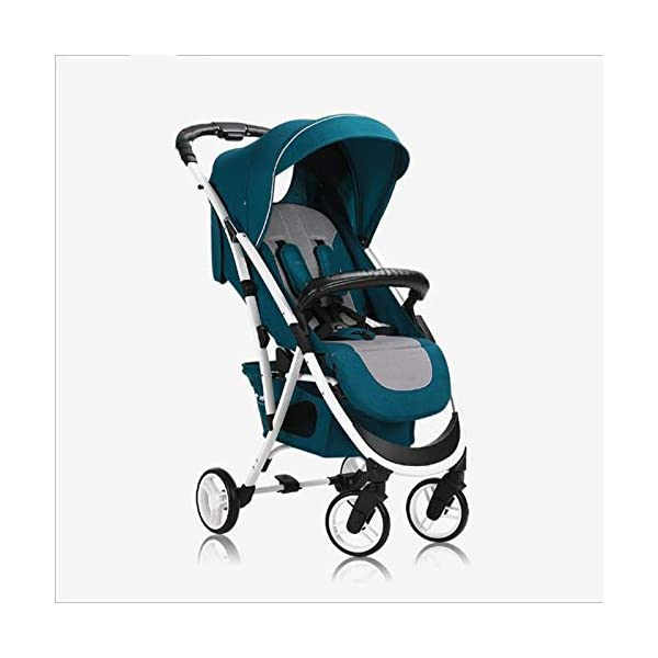 JXCC Baby Stroller Can Sit Reclining Simple Mini Aluminum alloy Stroller Folding Four Seasons Portable Shock absorber Super Child Baby Stroller from 0-36 months -Safe And Stylish Green JXCC 1. Can sit and recline, adjust the angle of 0-180 degrees, suitable for various situations 2. One-button removal, easy to clean, 5 parts can be removed 3. Two-wheel parallel connection, stable shock absorption, front wheel double suspension, single wheel double brake. 1
