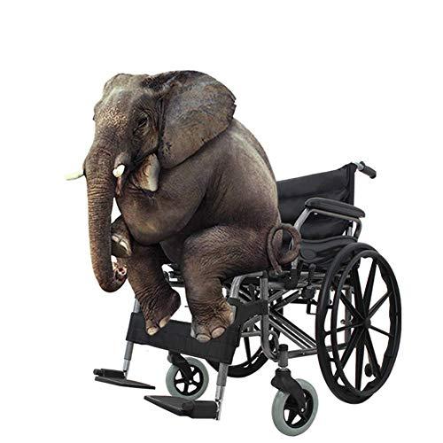 HXCD Equipo Ligero Plegable para discapacitados, Silla de Ruedas Manual, Ruedas Grandes Productos para el Cuidado de Ancianos para Personas con sobrepeso
