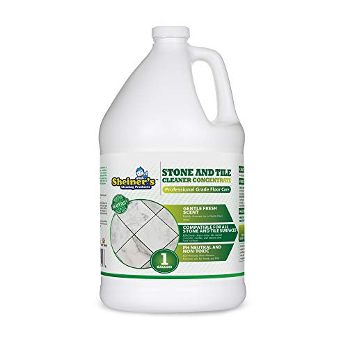 Sheiner's Stone & Tile Concentrated Floor Cleaner Liquid - 1 Gallon - Heavy Duty Cleaner for Tile, Laminate, Marble, Granite, Travertine, and for All Hard Surfaces - pH Neutral and Non-Toxic