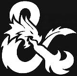 D & D  Dungeons & Dragons Decal Vinyl Sticker   White  5.25 inch SSND1103