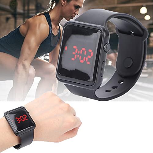 FEYV Reloj de Pulsera, diseño Luminoso, práctico Reloj electrónico, Conveniente para Parejas, Amigos, Regalos, Accesorios para Hombres, Mujeres(Black)