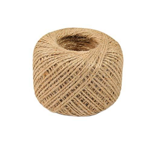 asentechuk/® 100/M//rollo de cordel de yute Vintage boda suministros Scrapbooking Twine colgar etiqueta cordel r/ústico embalaje