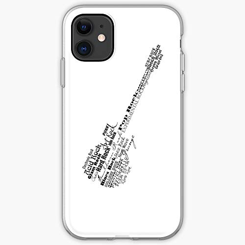 Guitar Punk Pop Speed Metal Hard Funk Heavy Roll Cubierta de la Caja del telefono de diseno unico Snap/Glass para iPhone, Samsung, Huawei - TPU a Prueba de Golpes Interior Protector