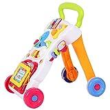 Juguete de empujar y tirar de regalo educativo de ciencia de aprendizaje temprano seguro, carrito para caminar, juguetes para bebés para sentarse y pararse, para niños pequeños