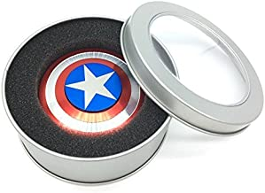 Unique Antique Fidget Spinners - Upgraded High Speed Antique Fidget Metal Aluminum Alloy Spinner Toy in Premium Gift Box, Stress Reducer Relieves ADHD, EDC Focus Toy (RED Captain America)