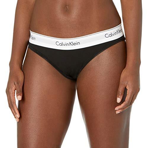 Calvin Klein Women's XS-XL Modern Cotton Bikini Panty, Black, Medium