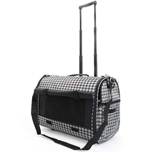 ZZL Transportadores de mascotas portátil de la moda de la mascota de la bolsa de la mascota del gato extra grande del carrito de la bolsa de hombro cómoda