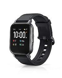 AUKEY Smartwatch, 1,4 Zoll, Farbdisplay 320p, Touchbedienung, Fitnesstracker, wasserdicht IP68, Herzfrequenzsensor, Schrittzähler, Stoppuhr, Benachrichtigungen, Musikwiedergabe