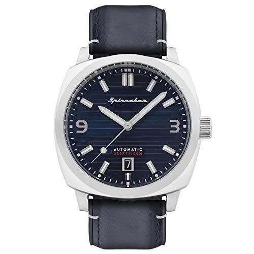 SP-5073-06 - Orologio da uomo, automatico, 42 mm, quadrante blu, cinturino in pelle blu