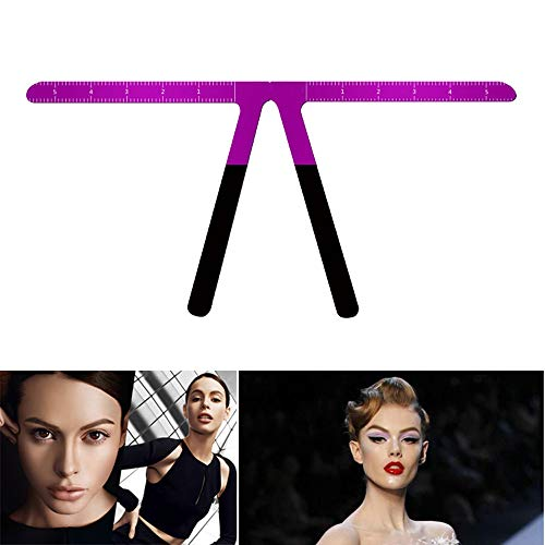QJHP Tatouage Sourcils Pochoir Positionnement en Trois Points Maquillage Permanent Mesure Symétrique Outil avec Flexible Réutilisable Règle D'équilibre du Shaper