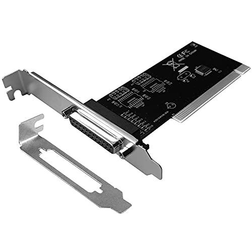 GODSHARK PCI to DB25 LPT Parallel Port Expansion Card with Low Profile Bracket, PCI Parallel Port Converter Adapter Controller for Desktop PC Printer