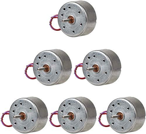 ICQUANZX 6 piezas DC 3 V 1730 RPM Mini motor eléctrico para DIY juguetes generador de turbina eólica