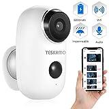 YESKAMO Cámara de Seguridad 1080P con Audio Bidireccional, Cámara de...