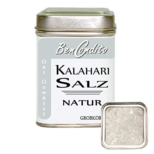 Kalahari Salz - grobes Afrikanisches Wüstensalz | Fa. BenCondito | 180 Gramm in der Salzzdose