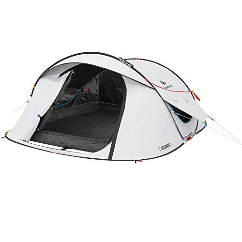 Quechua 2 Seconds Fresh & Black Waterproof Pop Up Camping Tent (3 Man)
