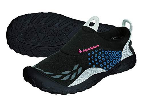 Aqua Sphere Sporter Wasser-Schuhe, Schwarz/Blau, unisex, Sporter, schwarz / blau,46