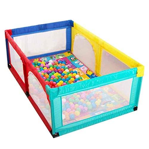 LUNAH Valla de Juego Corralito Grande para bebés, bolígrafos de Juego para niños Plegables, Espacio para centros de Actividades para niños (tamaño: 120 * 120 * 70 cm)
