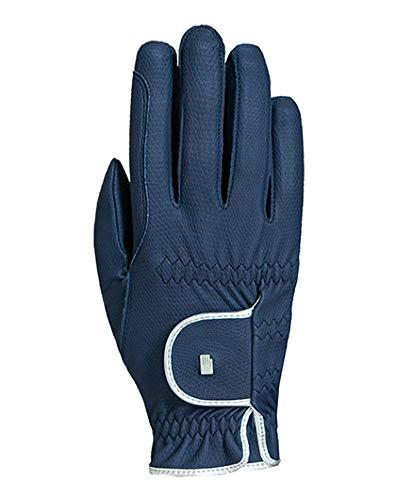 Roeckl Sports Damen Handschuh Lona, Damenreithandschuh, Navy/Silber, 7,5