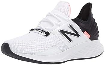 New Balance Women s Fresh Foam Roav V1 Sneaker White/Black/Guava 7.5