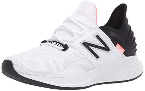 New Balance Women's Fresh Foam Roav V1 Sneaker, White/Black/Guava, 8 M US