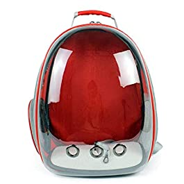 CZWYF Cat and dog bag Pet Cat Dog Puppy Carrier Travel Bag Space Capsule Transparent Backpack Breathable 360° Sightseeing (Color : D)