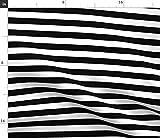 Spoonflower Stoff – schwarz weiß gestreift modern