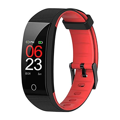 onedekko Smart Band 2019 IP68 Waterproof Blood Pressure, Heart Rate Monitor Sport Fitness Bracelet Tracker Watch (red)