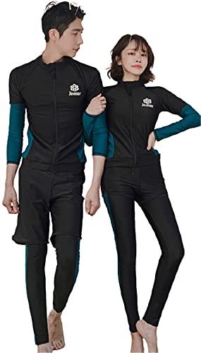 水着 メンズ ラッシュガード ペア ルック 水着 お揃い メンズ 長袖 水着 パーカー 大きいサイズ セット アップ レディース フィットネス 水着 おしゃれ 男性 ラッシュ ガード 上下 大きい サーフパンツ uvカット 夫婦 mrb0254-G-M