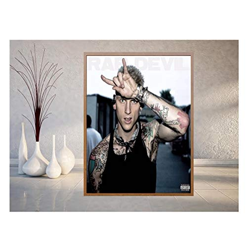 CAOHD MGK Rapper Album Cover Silk Poster and Print Wall Art Picture Painting Home Decor Pictures Canvas Prints Wall Art-50X70Cm No Frame