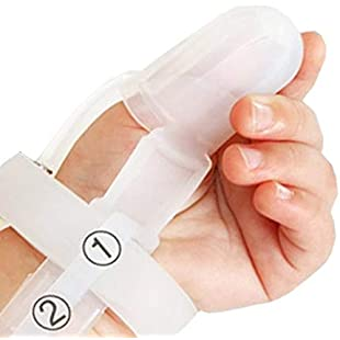 Non-Toxic Silicone Kids Finger Guard Baby Wrist Band Treatment Kit for Stop Thumb Sucking(Random Color):Tudosobrediabetes