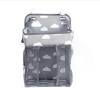 SKEIDO Baby Crib Hanging Storage Bag Diaper Nappy Organizer Cot Bed Organizer Bag Infant Essentials Diaper Caddy Kids Crib...
