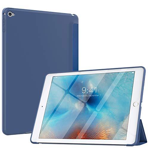 MoKo Funda Compatible con iPad Air 2, Superior Delgada Protectora Case con Tapa Trasera Esmerilada Translúcida Compatible con Apple iPad Air 2 9.7