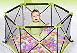 X-Jang ベビーサークル 育児 赤ちゃん フェンス 折りたたみ 収納 、高さ70cm 安全、六角形 倒れにくい。3ヶ月~3歳半対象、誕生日プレゼント