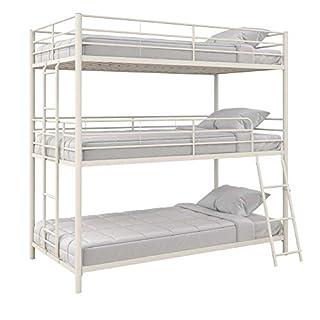 Max & Finn Altona Metal Triple Bunk Bed, Bed for Kids, Twin/Twin/Twin, White (B07RGR1FRL) | Amazon price tracker / tracking, Amazon price history charts, Amazon price watches, Amazon price drop alerts