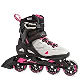 Rollerblade Macroblade 80 Women's Adult Fitness Inline Skate, Cool Grey/Candy Pink, 7
