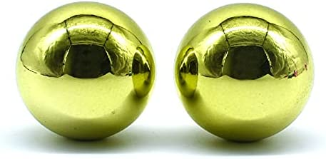 Arcity 2 Pcs Arcade Joystick Ball Top Chrome Handle Rocker Round Head for Arcade Fighting Joystick Controller Game DIY Parts Kit Replacement M6 Light Green and Light Green Durable New