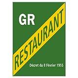 Adhésif - Licence Grand Restaurant - Dimensions 150 x 210 mm - Film de Protection UV et Anti Graffiti