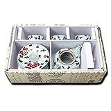 Mellow Breez Korean Ceramic Tea Party Set - Flower Pattern 3 Teacups & Teapot Set | Luxury Oriental Home & Kitchen Decor Accents - Handmade Gift Box for Tea Lovers for Women - Dado Set (다도 세트)