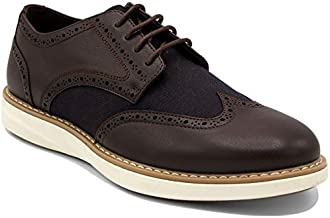 Nautica Men's Wingdeck Oxford Shoe Fashion Sneaker-Brown/Brown-10