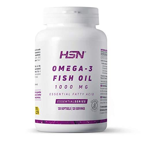 Aceite de Pescado Omega 3 de HSN   1000 mg