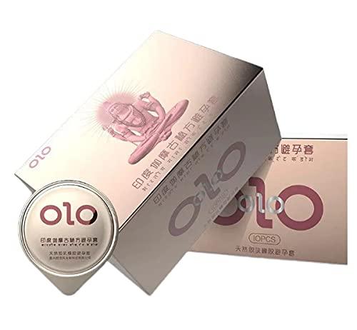Condón Ultrafino 0.01 Para Hombres, Ácido Hialurónico Vintage Indio, Condón Acanalado Con Puntos, Estimulación Vaginal, Anticonceptivo, 2 Cajas De 20 Paquetes, Ancho 52 ± 2 Mm