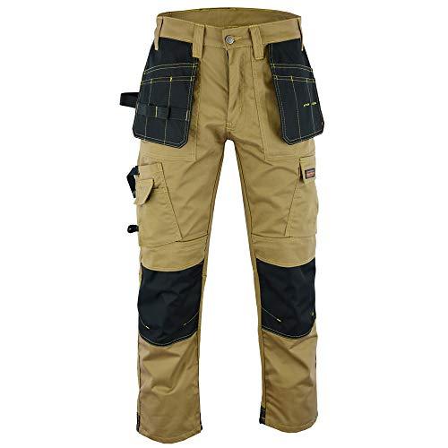 Wright Wears Herren Workwear Grau & Khaki Hochleistungs-Multi-Pockets & Kniepolo-Taschen wie Dewalt .DE: 44/L (30W/33L Größe Fertigung)