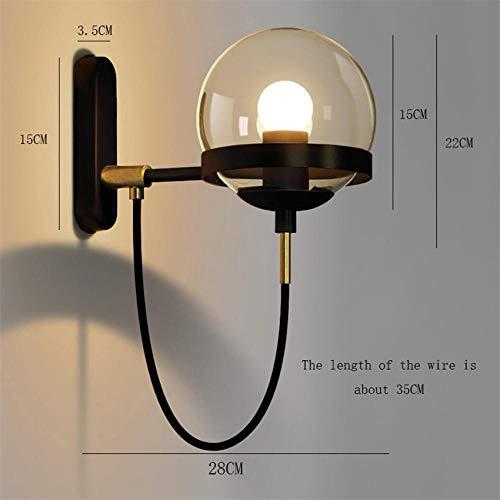 Nordic LED wandlamp deurlamp tuin modern zwart koper glazen bol trapverlichting verlichting