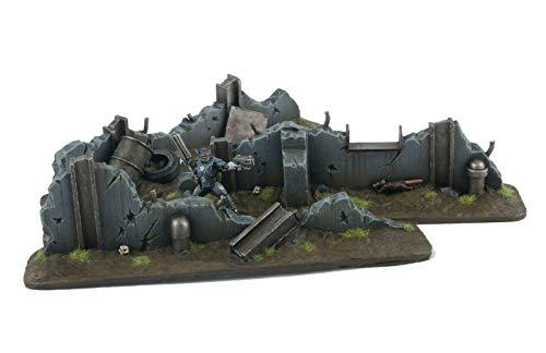 War World Gaming War Torn City Defensive Barrikaden x 3 - 28mm Heroisch Sci-Fi Wargame Terrain Tabletop Gelände Geländebau Zombie Post-Apokalyptisch Walking Dead