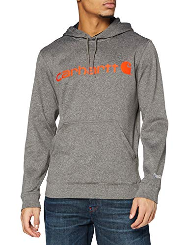 Carhartt Force Extremes Signature Graphic Hooded Sweatshirt Sweat à capuche, Granite Heather, L Taille normale Homme