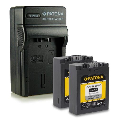 M&L Mobiles® | Novedad - 4in1 Cargador + 2x Batería como CGA-S006 E CGAS006 E con Infochip · 100% compatible con Panasonic Lumix DMC-FZ7 | DMC-FZ8 | DMC-FZ18 | DMC-FZ28 | DMC-FZ30 | DMC-FZ50 -- BP-DC5E Leica V-Lux 1